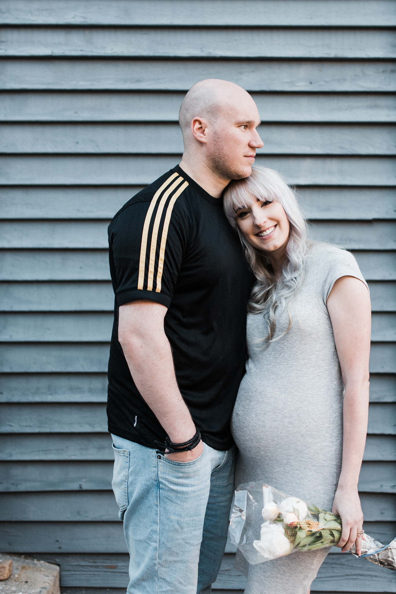 Lifestyle Maternity Session of pregnant couple in downtown Park City, UT by Idaho Lifestyle photographer Whitney Majors Photography